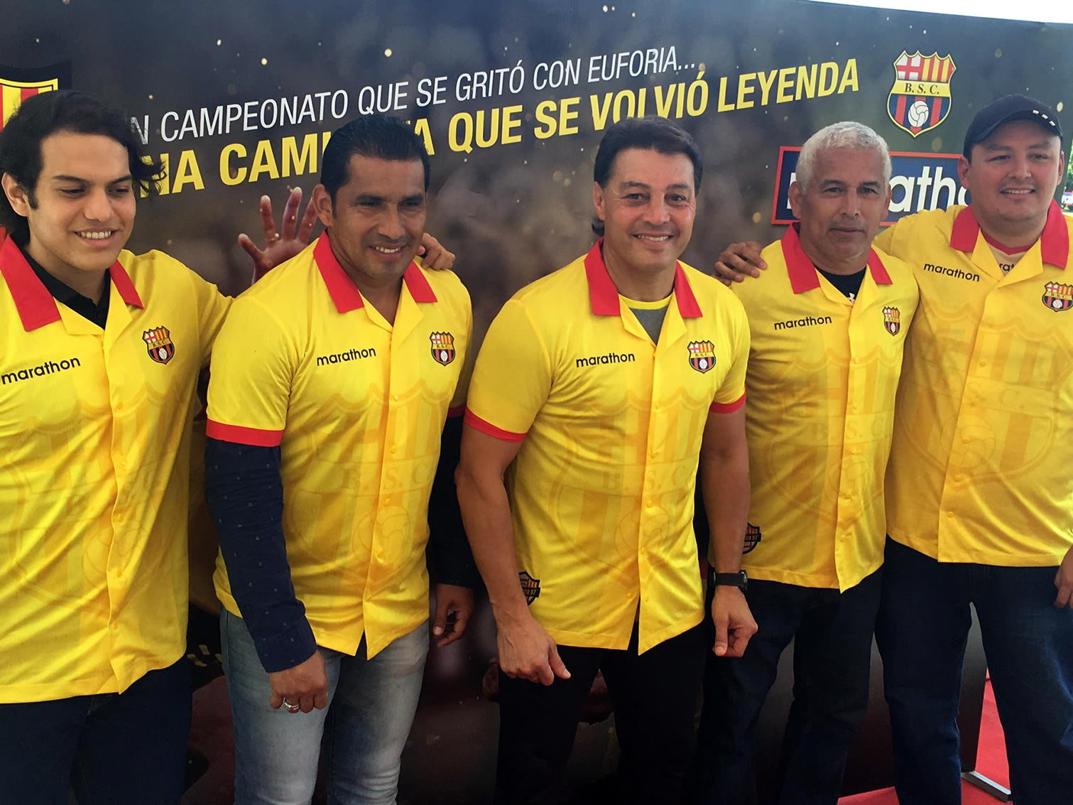 Camiseta conmemorativa del Barcelona SC | Foto Marathon