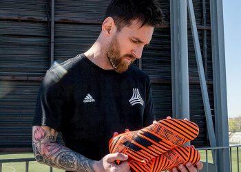 Messi con los NEMEZIZ Pyro Storm | Foto Adidas