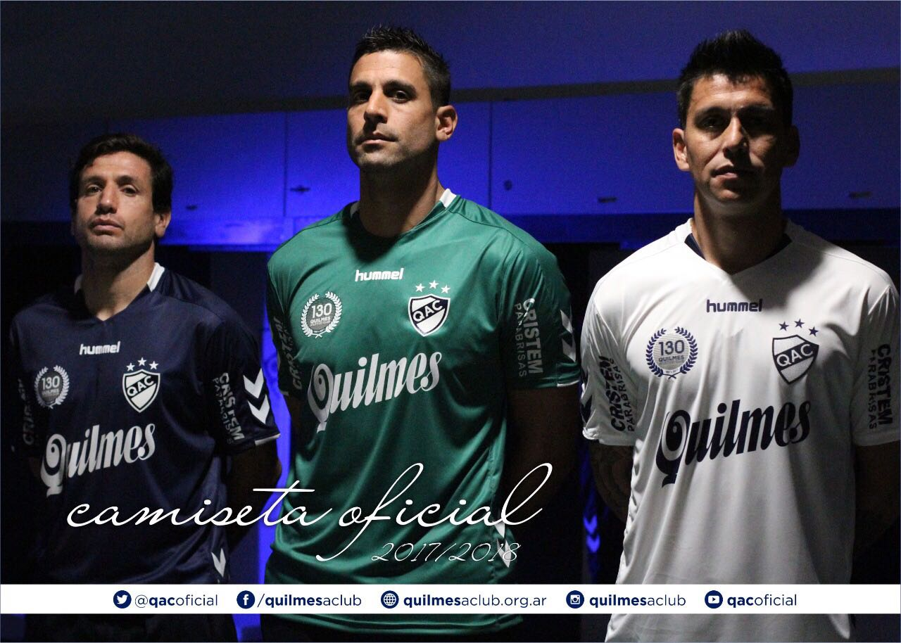 Nuevas camisetas Hummel de Quilmes | Foto Twitter Oficial