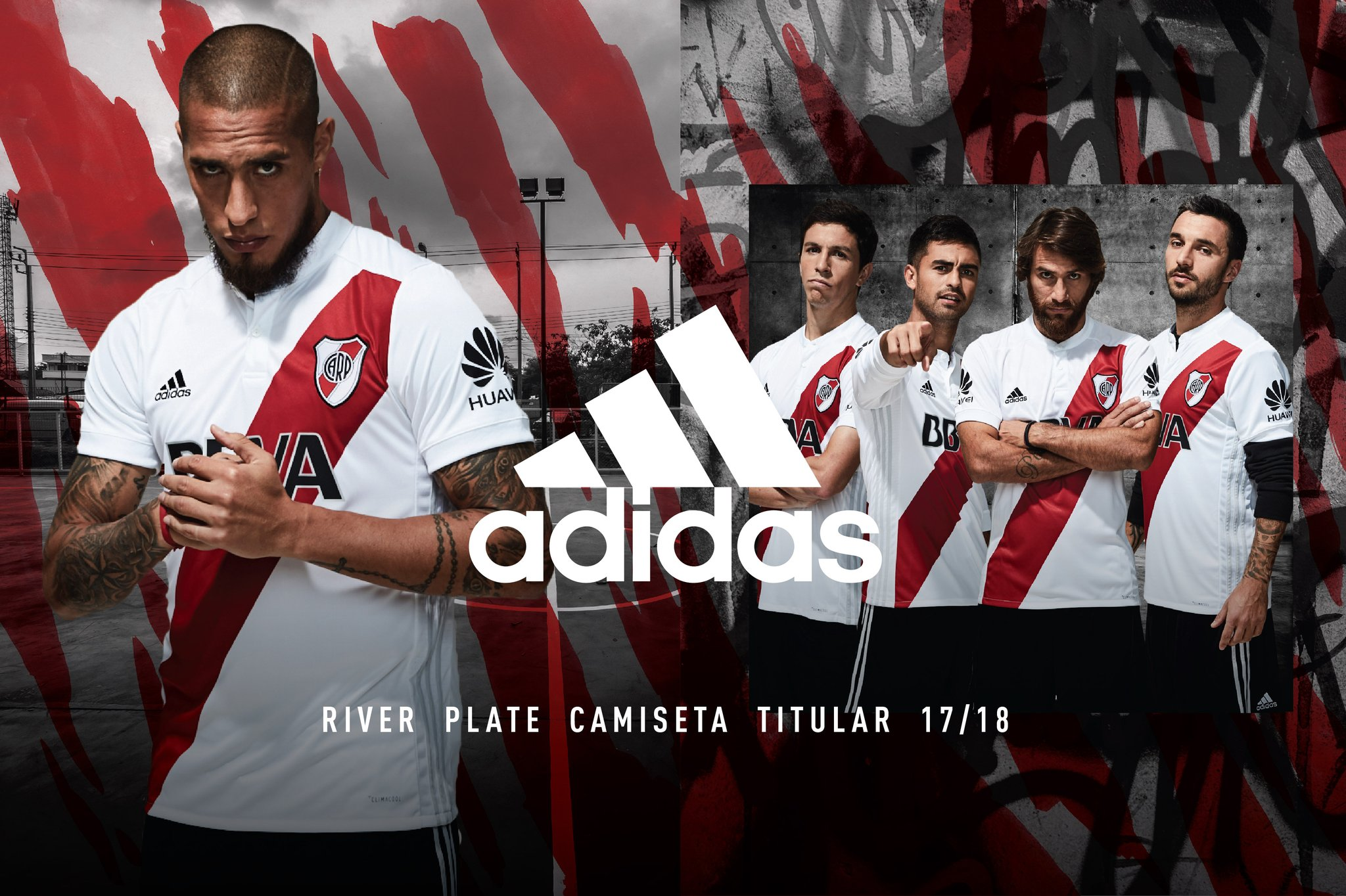 Camiseta titular Adidas 2017-18 de River | Foto Web Oficial