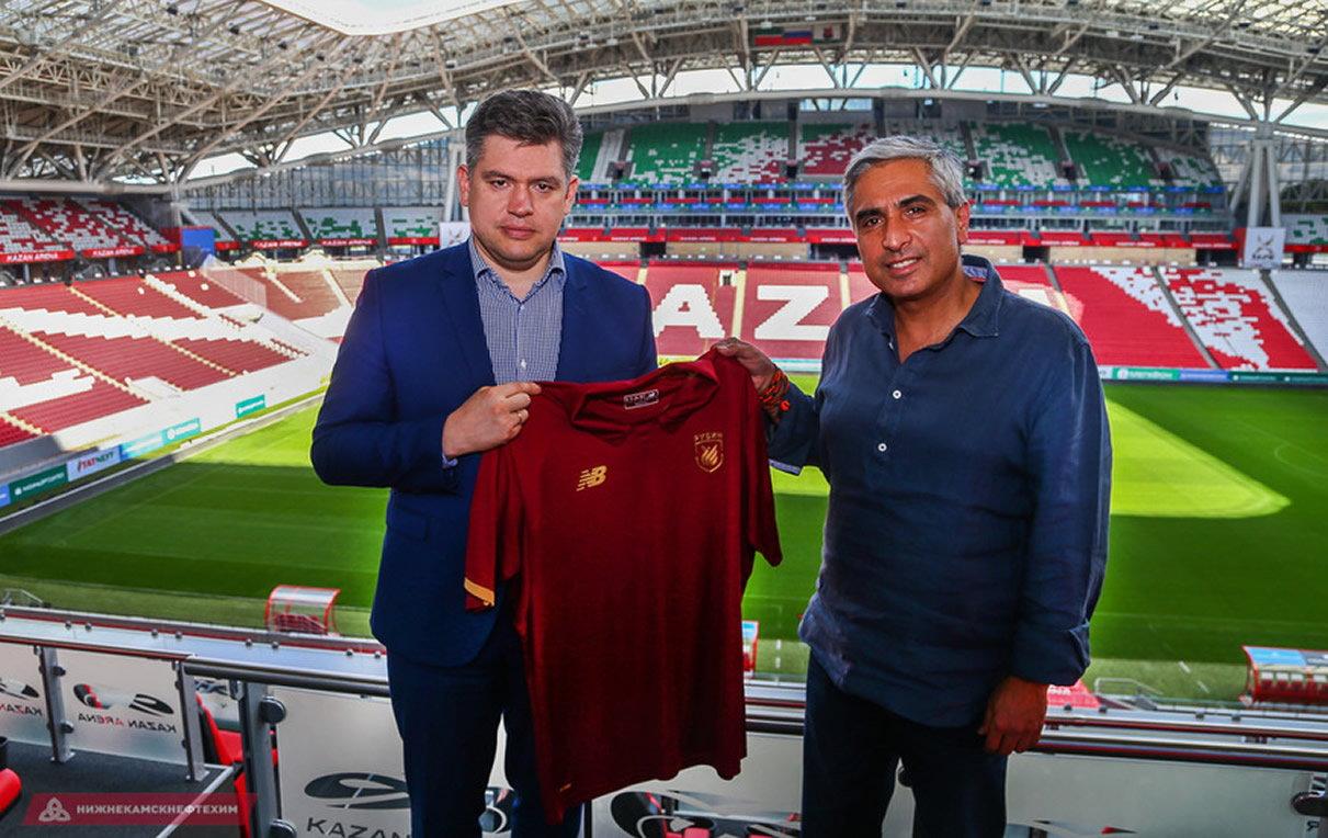 Camiseta titular New Balance del Rubin Kazan | Foto Web Oficial