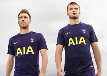Eriksen y Dier con la tercera camiseta del Tottenham   Foto Nike