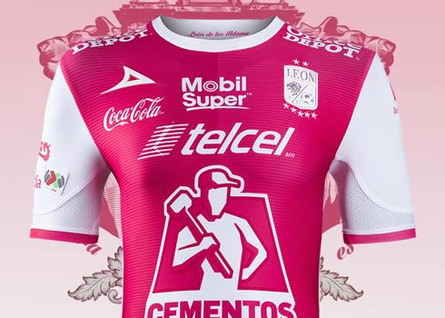 Camiseta rosa del Club León | Foto Pirma