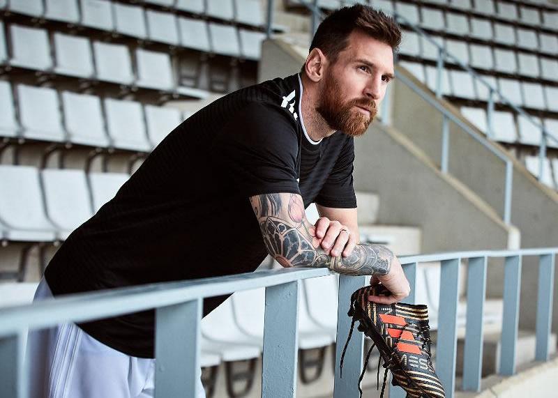"Lionel Messi con sus NEMEZIZ del ""Skystalker Pack"" | Foto Adidas"