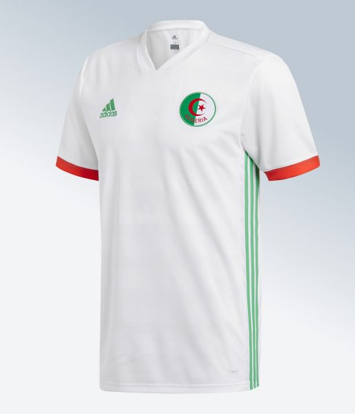 Camiseta titular 2018 de Argelia | Imagen Adidas