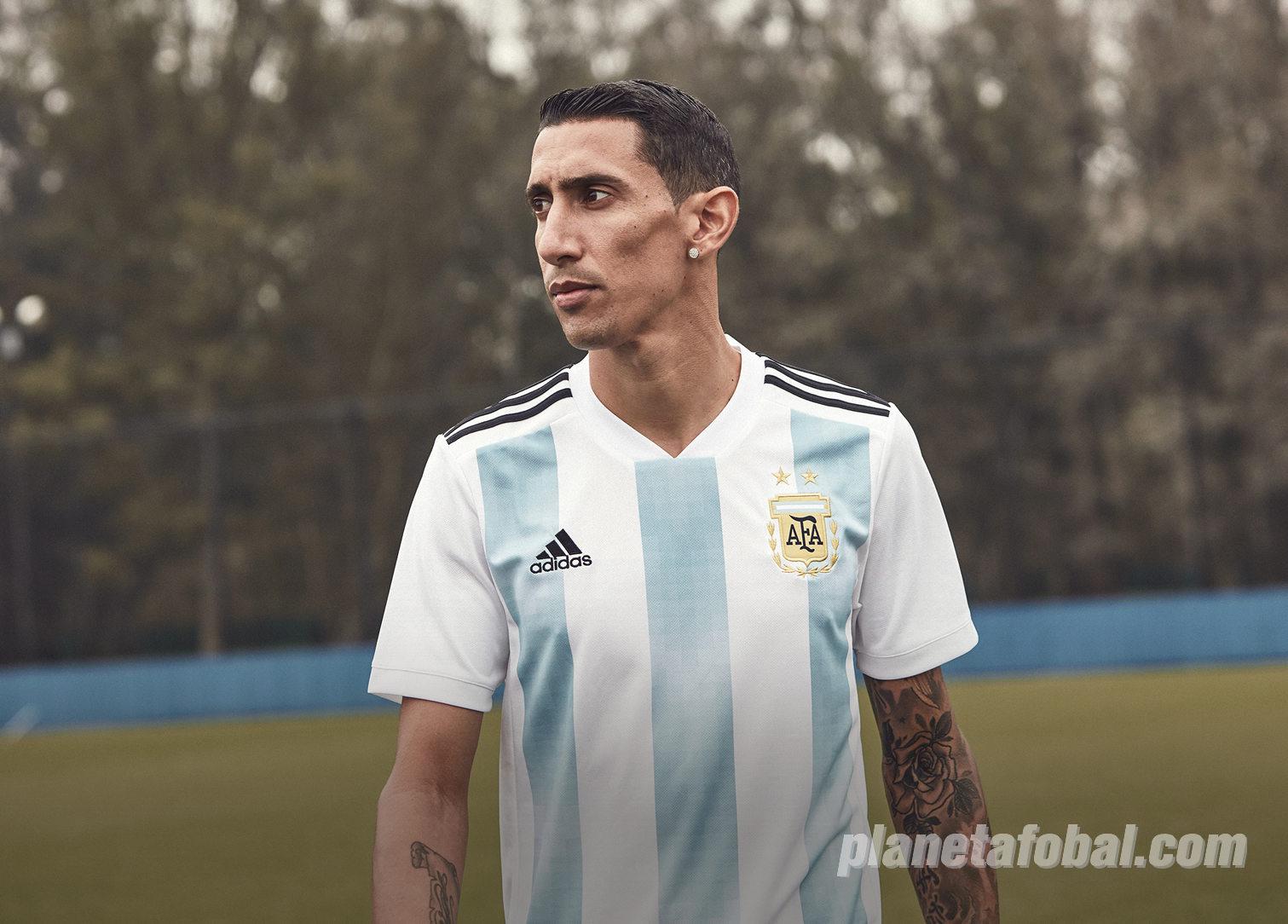 Angel Di María con la camiseta titular Mundial 2018 de Argentina | Foto Adidas