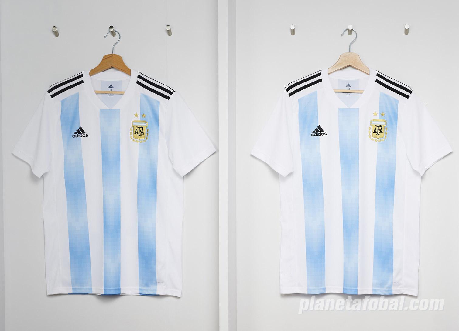 Camiseta titular Mundial 2018 de Argentina | Foto Adidas