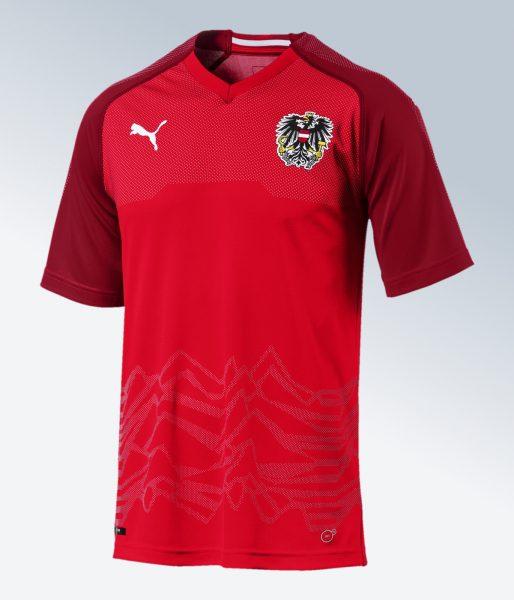 Camiseta titular de Austria | Imagen Puma