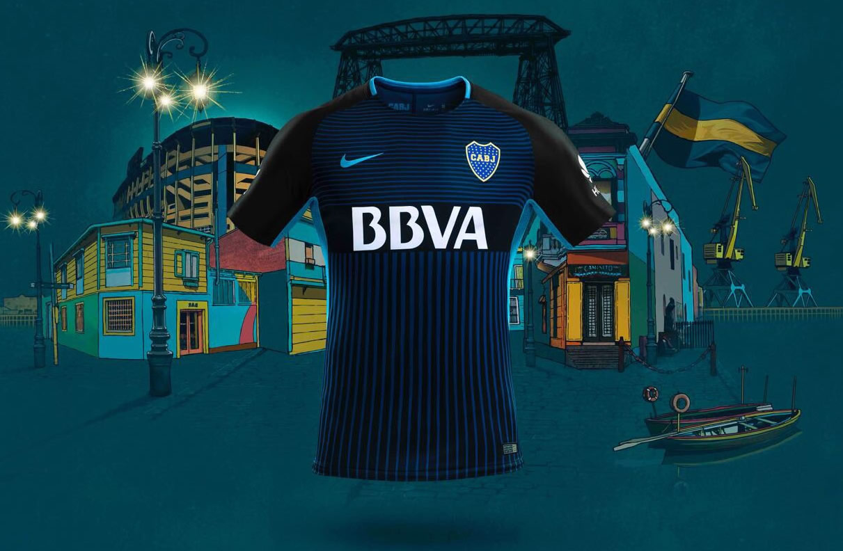 Tercera camiseta Nike de Boca | Imagen Web Oficial