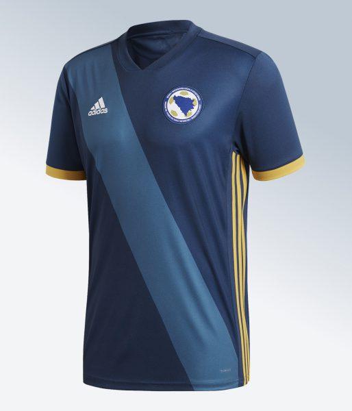 Camiseta titular 2018 de Bosnia y Herzegovina | Imagen Adidas