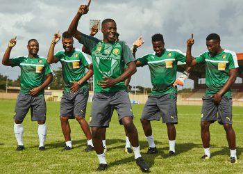 Los jugadores recrearon el famoso baile de Milla | Foto Puma