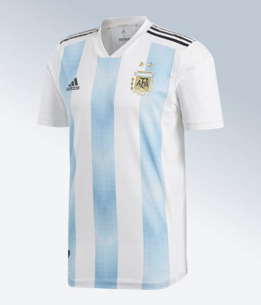 Camiseta titular Mundial 2018 de Argentina | Imagen Adidas