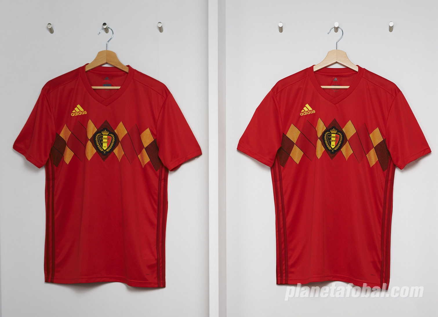 Camiseta titular Mundial 2018 de Bélgica | Foto Adidas