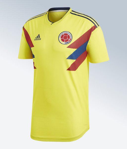 Camiseta titular Mundial 2018 de Colombia | Imagen Adidas