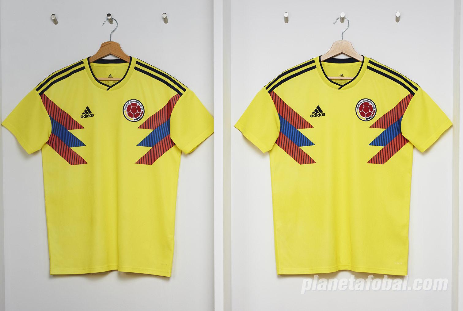 Camiseta titular Mundial 2018 de Colombia | Foto Adidas