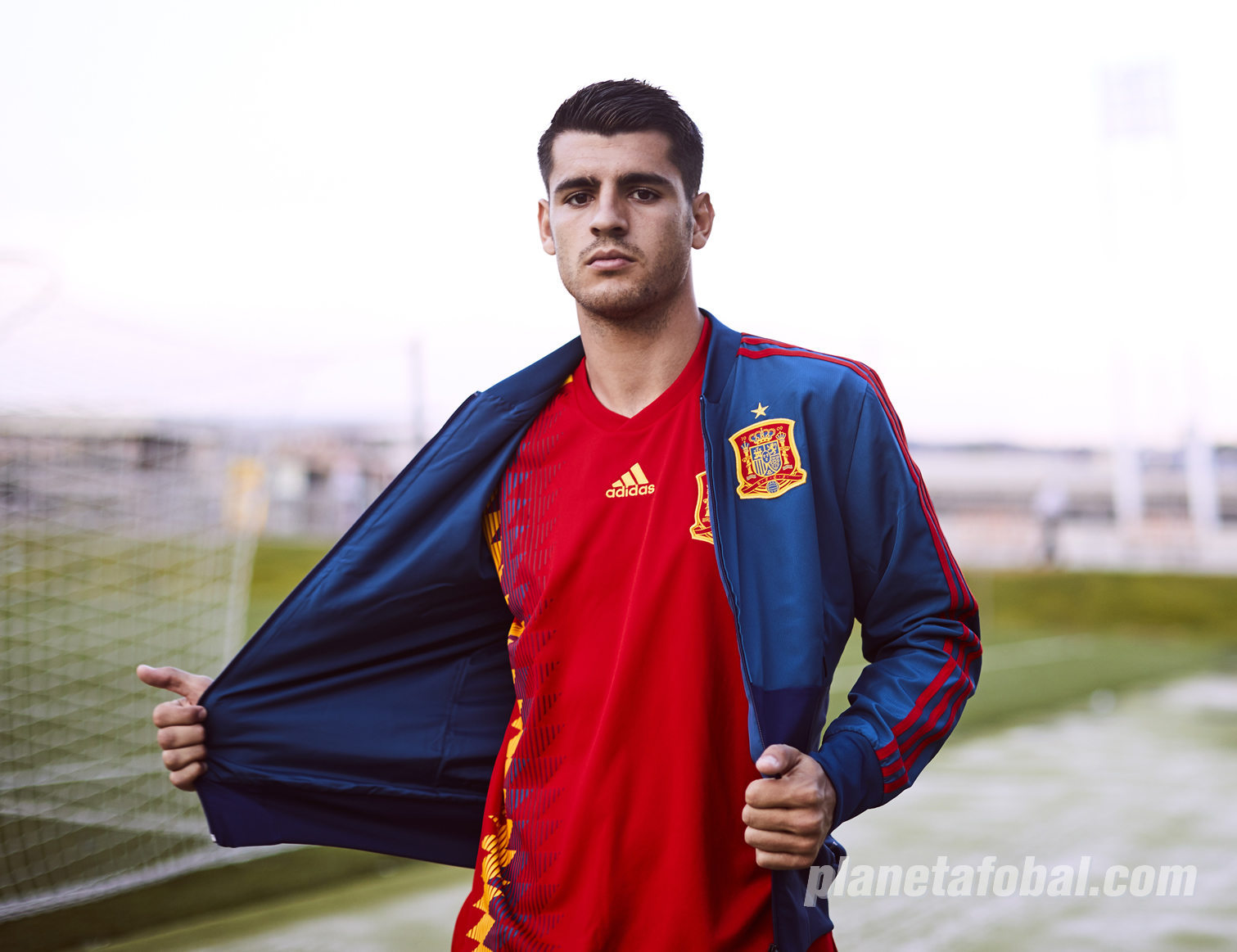 Alvaro Morata con la camiseta titular Mundial 2018 de España | Foto Adidas