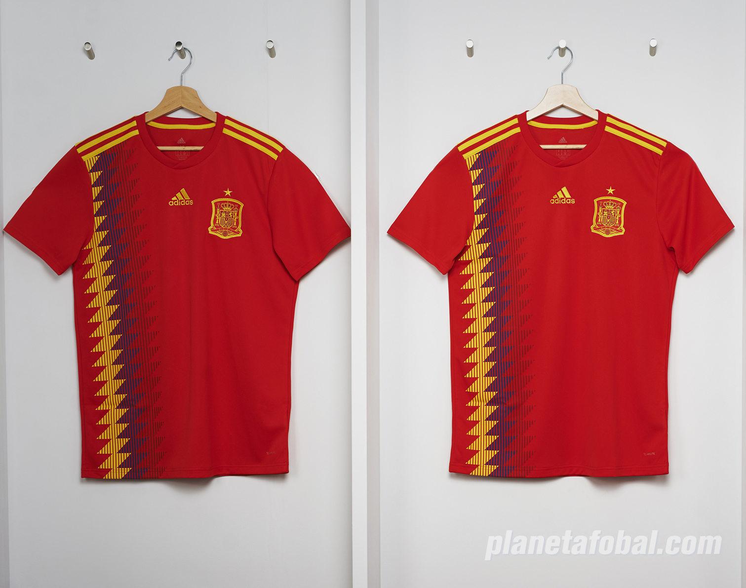 Camiseta titular Mundial 2018 de España | Foto Adidas