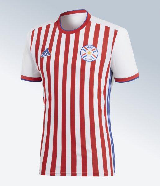 Camiseta titular 2018 de Paraguay | Imagen Adidas