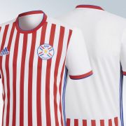 Camiseta titular 2018 de Paraguay   Imágenes Adidas