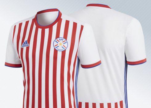 Camiseta titular 2018 de Paraguay | Imágenes Adidas