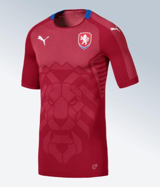 Camiseta titular 2018 de la República Checa | Imagen Puma
