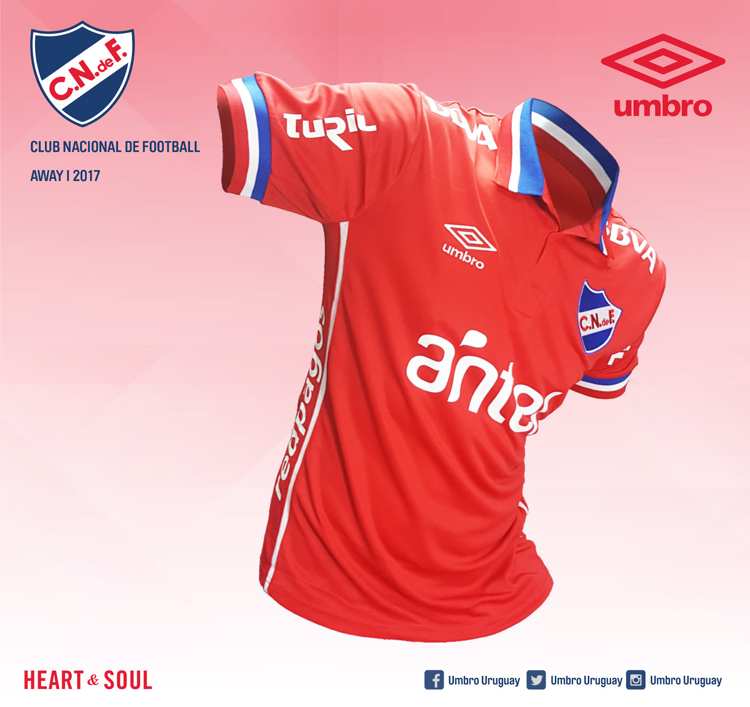 Nuevo kit alternativo Umbro de Nacional | Foto Web Oficial