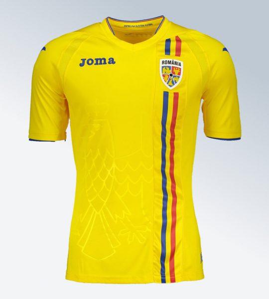 Camiseta titular de Rumania | Imagen Joma