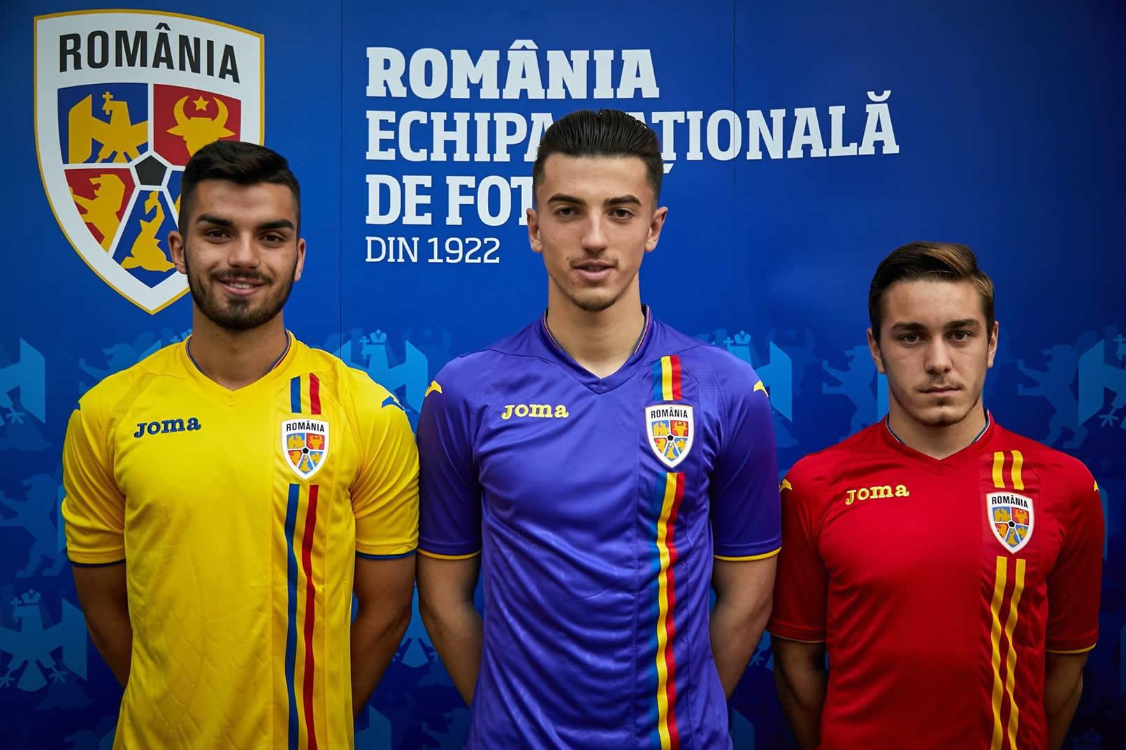 Nuevas camisetas Joma de Rumania | Imagen Web Oficial