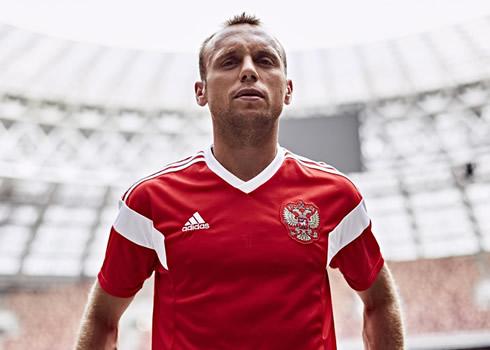 Nueva camiseta titular de Rusia | Foto Adidas