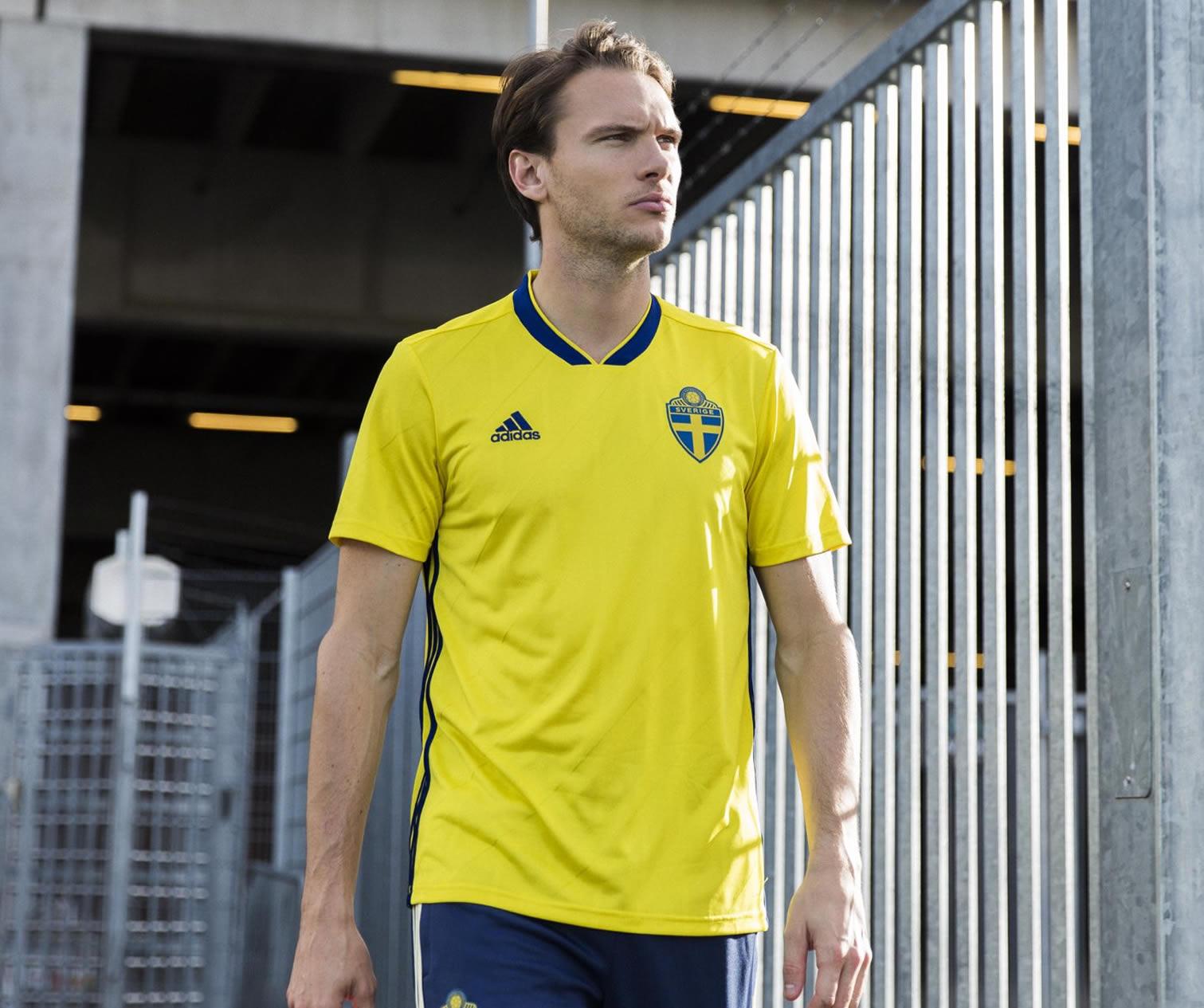 Nueva camiseta titular Adidas de Suecia | Foto Web Oficial