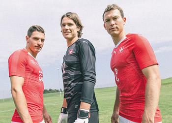 Camiseta titular de Suiza | Foto Web Oficial