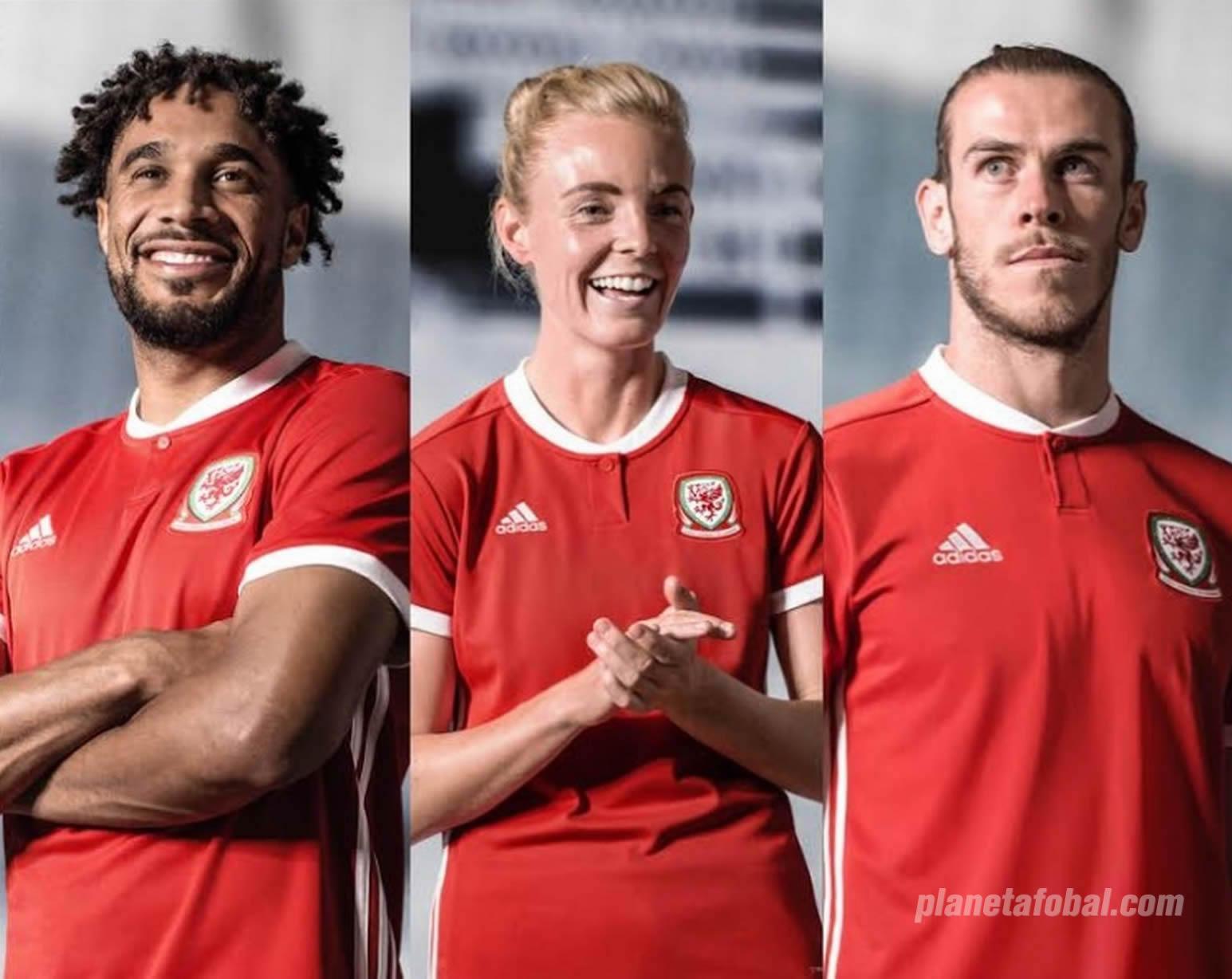 Nuevo kit titular Adidas de Gales | Foto Web Oficial