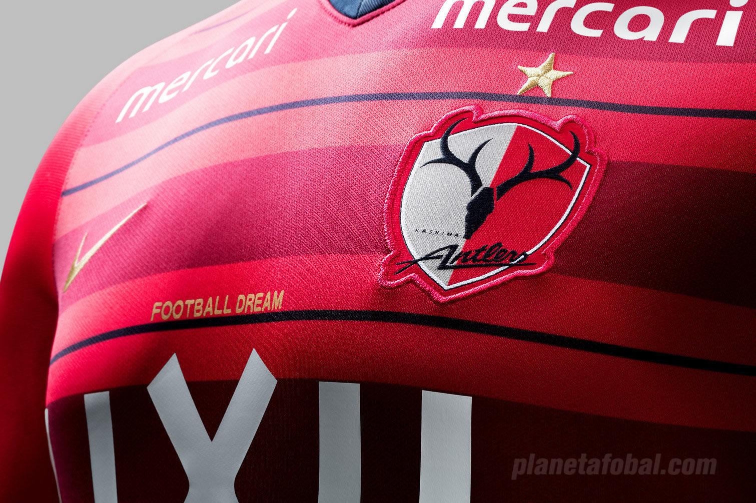 Camiseta titular del Kashima Antlers | Imagen Nike