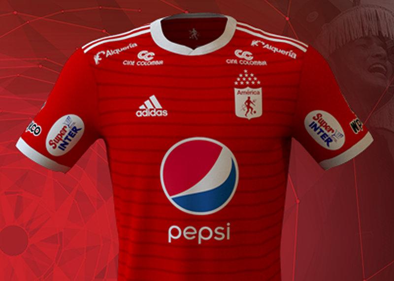 Camiseta titular del América de Cali   Imagen Web Oficial