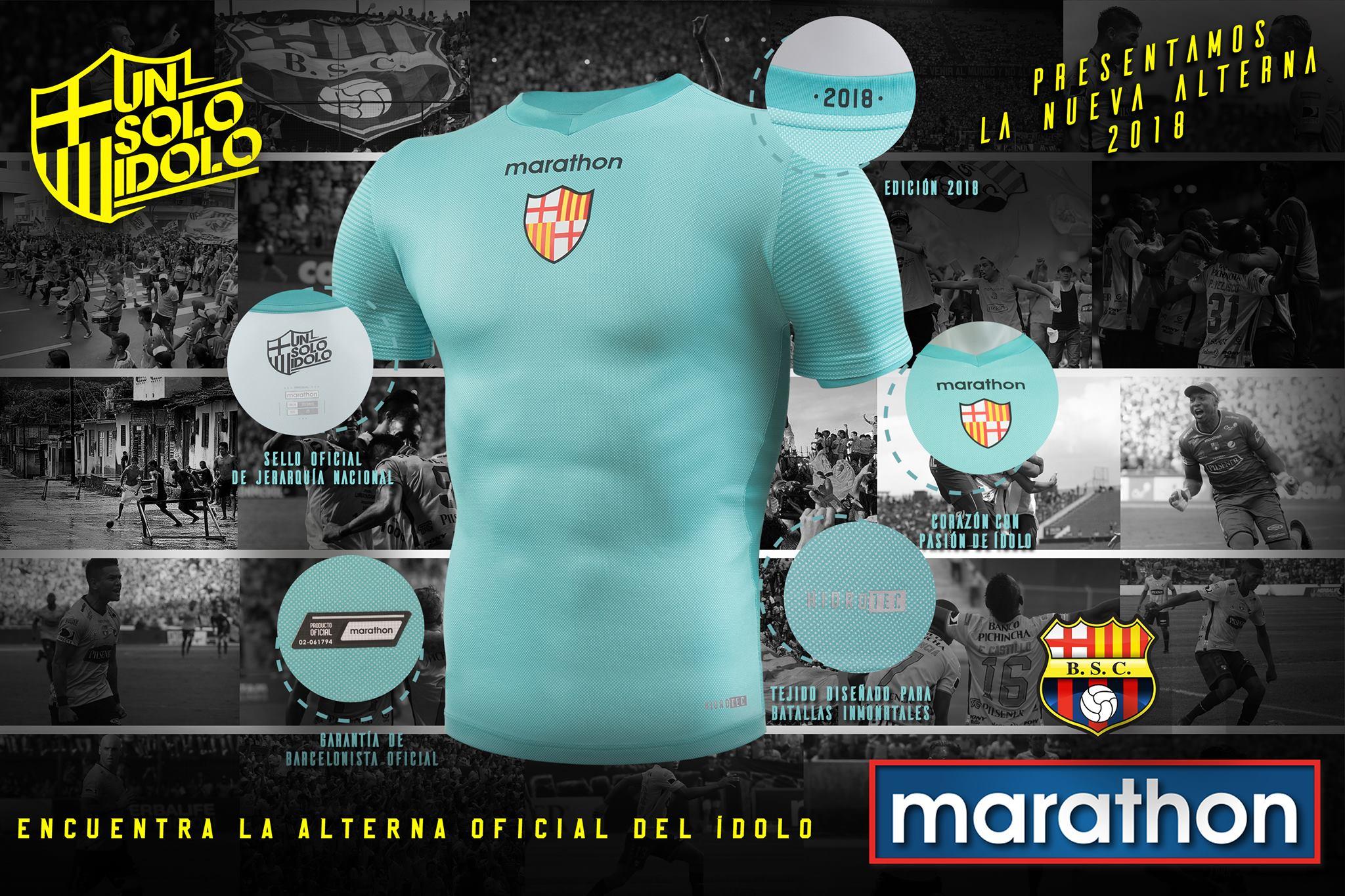Camiseta alterna 2018 del Barcelona SC   Imagen Marathon Sports