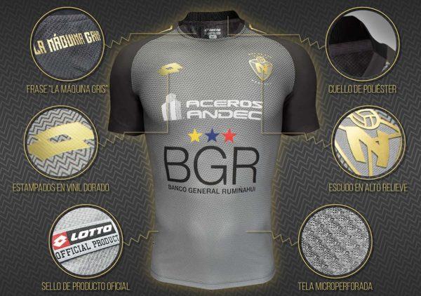 Camiseta alterna Lotto de El Nacional | Foto Web Oficial