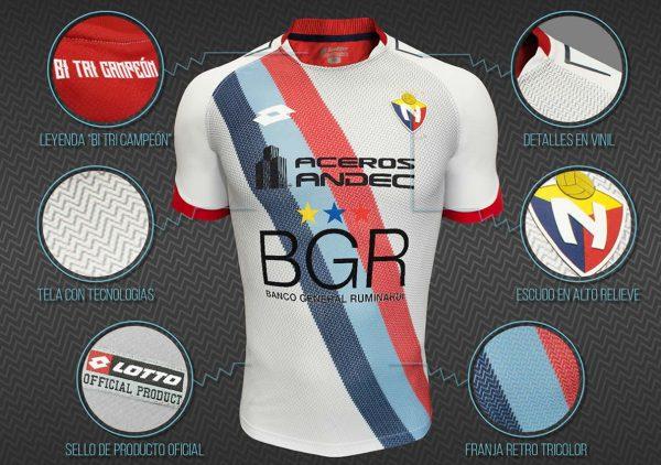 Camiseta Copa Sudamericana Lotto de El Nacional | Foto Web Oficial