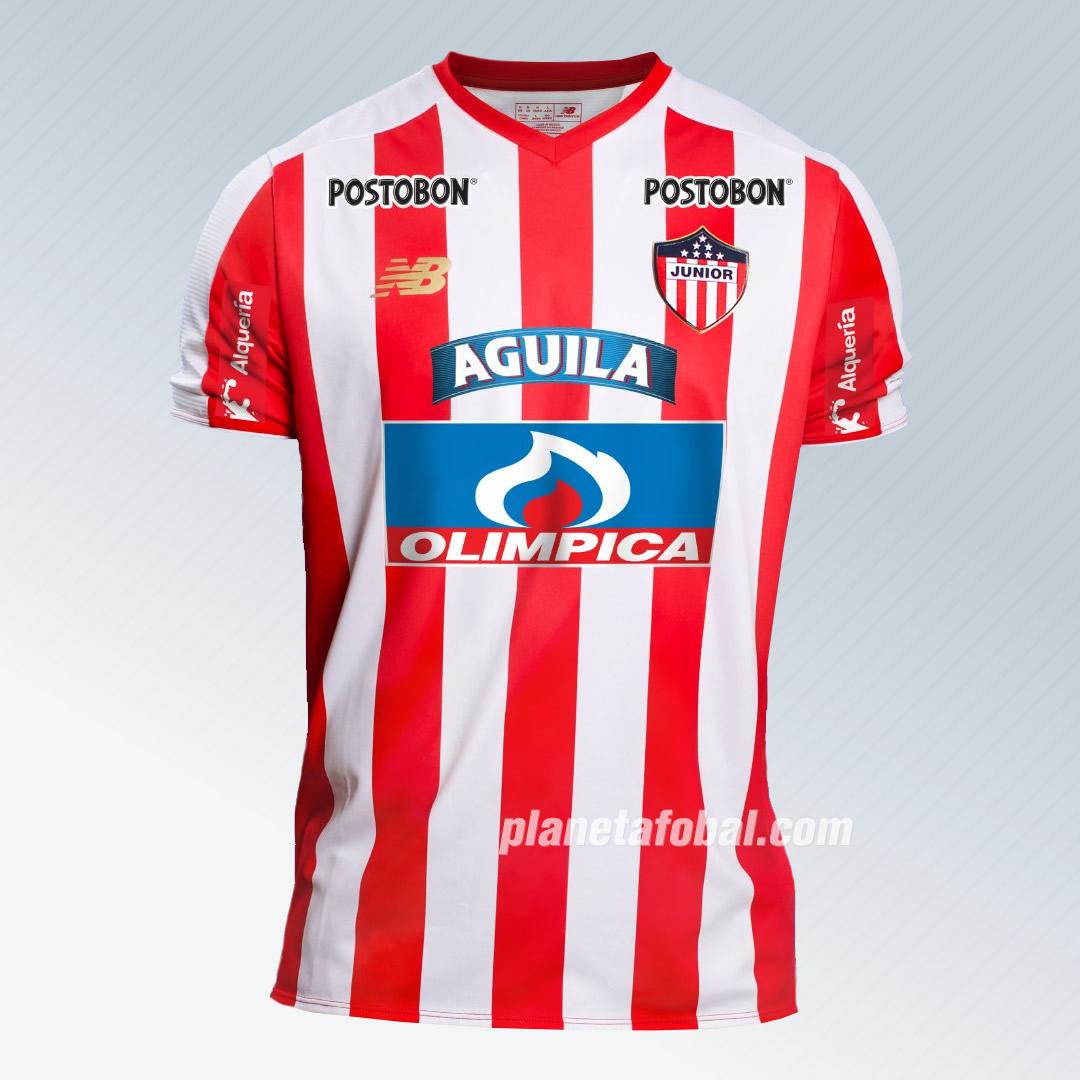 Nueva camiseta titular del Junior de Barranquilla | Imagen New Balance