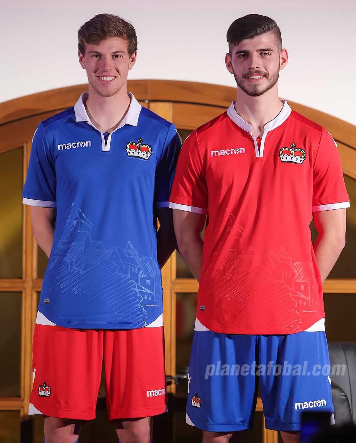 Nuevas camisetas Macron de Liechtenstein | Imagen Web Oficial