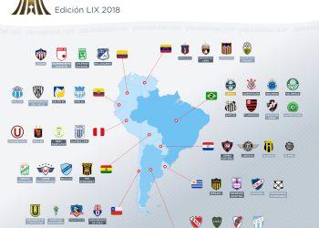El mapa de la Copa CONMEBOL Libertadores 2018