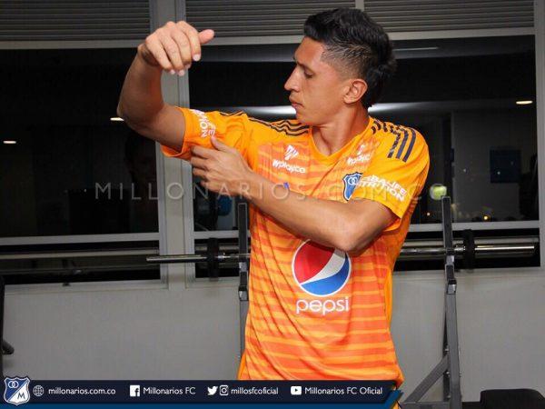 Camiseta de arquero 2018 de Millonarios FC | Imagen Twitter Oficial