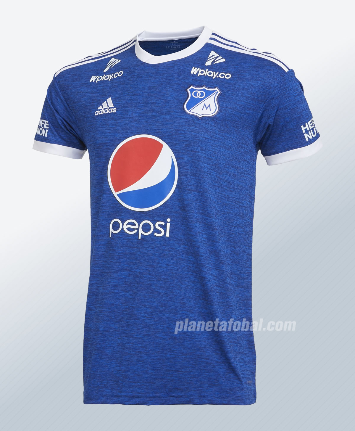 Camiseta titular 2018 de Millonarios FC | Imagen Adidas