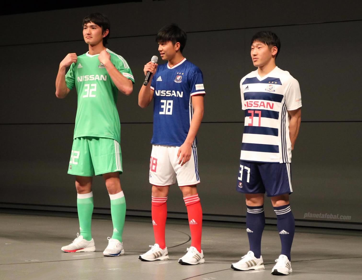 Camisetas 2018 del Yokohama Marinos | Imagen Web Oficial