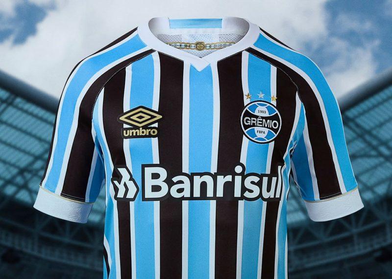 Camiseta titular 2018 del Grêmio   Foto Umbro