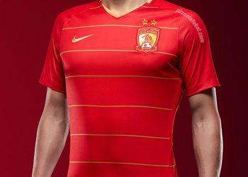 Camiseta titular 2018-19 del Guangzhou Evergrande | Imagen Nike