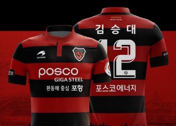 Camiseta titular Astore del FC Pohang Steelers | Foto Web Oficial