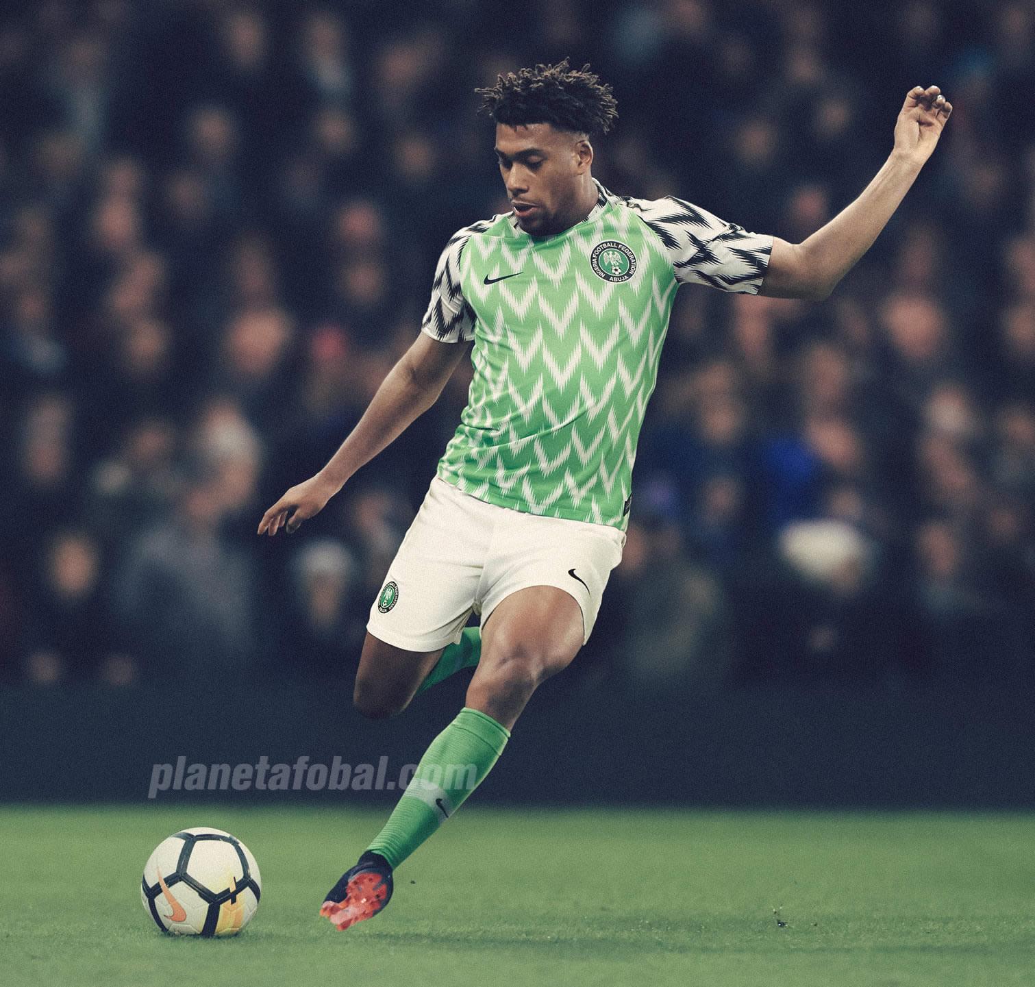 Camiseta titular de Nigeria Mundial de Rusia 2018 | Foto Nike