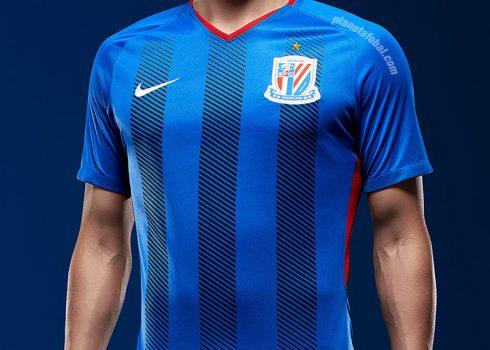 Camiseta titular 2018-19 del Shanghai Shenhua   Imagen Nike