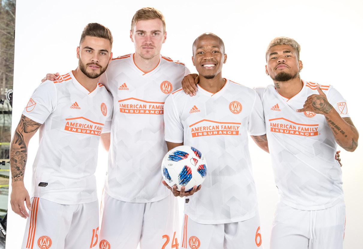 Villalba, Gressel, Nagbe y Martinez posaron con el kit | Foto MLS