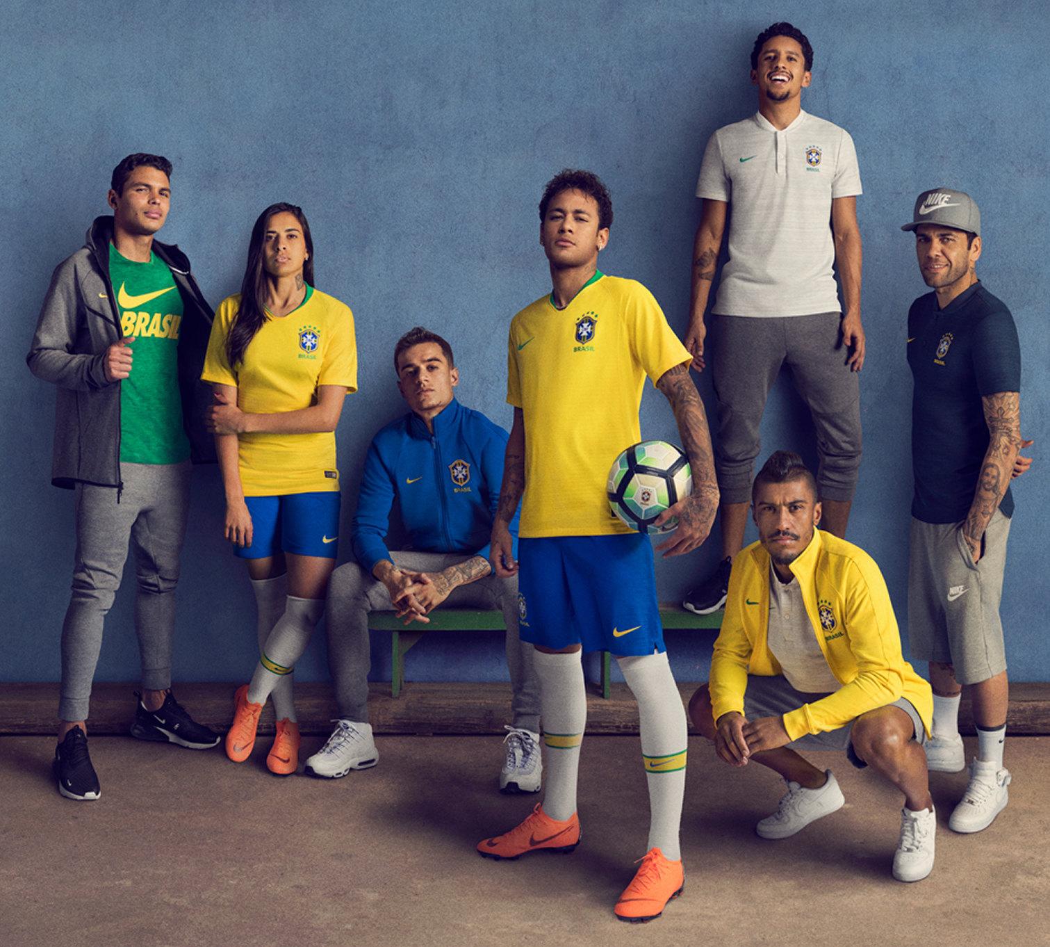 Camisetas de Brasil Mundial 2018 | Imagen Nike